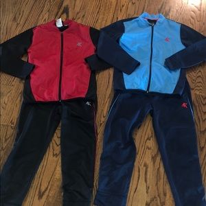 Boys size 8 matching warm up jackets/pants